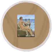 31065 Henry Holiday Round Beach Towel