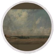 A View From Hampstead Heath Round Beach Towel