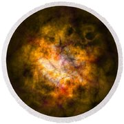 Abstract Stars Nebula Round Beach Towel