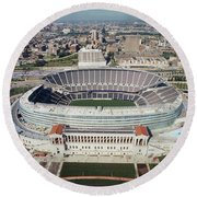 Aerial View Of A Stadium, Soldier Round Beach Towel