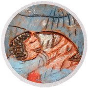 Akaweese - Tile Round Beach Towel