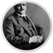 Alois Alzheimer, German Neuropathologist Round Beach Towel