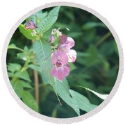 Alpine Wildflower Round Beach Towel