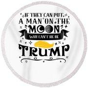 Anti Trump Impeach The President Vote For Dems Light Round Beach Towel