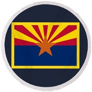 Arizona Flag Round Beach Towel