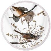 Audubon: Sparrow, (1827-38) Round Beach Towel