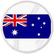 Australia Flag Round Beach Towel