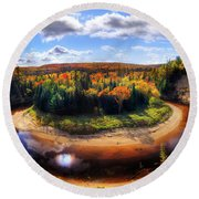 Autumn In Arrowhead Provincial Park Round Beach Towel