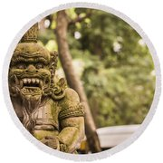 Bali Sculptures Round Beach Towel