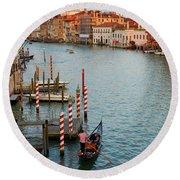 Basilica Di Santa Maria Della Salute, Venice, Italy Round Beach Towel