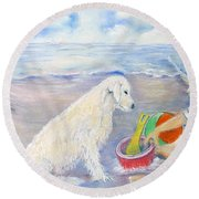 Beach Boy Round Beach Towel