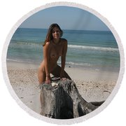 Beach Girl Round Beach Towel