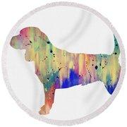 Beagle-colorful Round Beach Towel