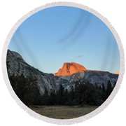 Beauty Of Yosemite Round Beach Towel