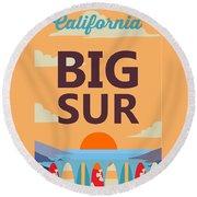 Big Sur Round Beach Towel