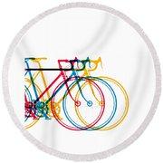 Bike Art Round Beach Towel