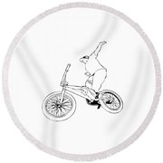 Bike Life Round Beach Towel