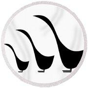 3 Birds  Round Beach Towel