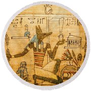 Book Of The Dead Round Beach Towel