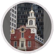 Boston Old State House Round Beach Towel