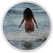 Brazilian Beauty Round Beach Towel