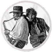 Bruce Springsteen Clarence Clemons Collection Round Beach Towel