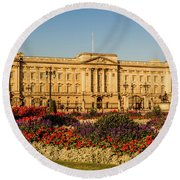 Buckingham Palace, London, Uk. Round Beach Towel