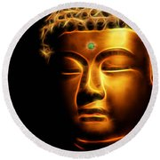 Buddah Collection Round Beach Towel