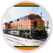 Burlington Northern Santa Fe Bnsf - Railimages@aol.com Round Beach Towel
