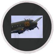 C-47 Gooney Bird At Salinas Round Beach Towel