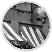 Cafe St. Paul - Montreal Round Beach Towel