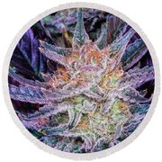 Cannabis Macro Round Beach Towel