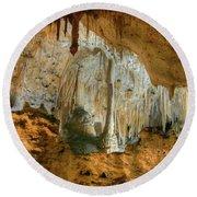 Carlsbad Caverns Round Beach Towel