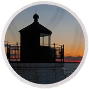 Castle Hill Light Newport Rhode Island Round Beach Towel