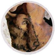 Cave Art: Horse Round Beach Towel