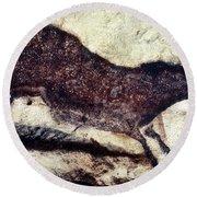 Cave Art: Lascaux Round Beach Towel