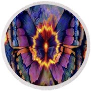 Celestial Butterfly Round Beach Towel