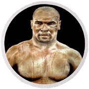 Champion Boxer And Actor Mike Tyson Round Beach Towel