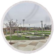 Charlotte Nc Downtown Round Beach Towel