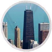 Chicago Il, Usa Round Beach Towel