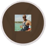 Christopher Oyolokor Round Beach Towel