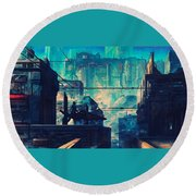 City Round Beach Towel