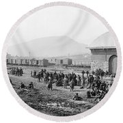 Civil War: Prisoners, 1864 Round Beach Towel