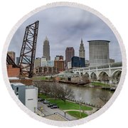 Cleveland Skyline Round Beach Towel
