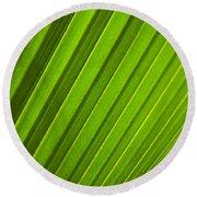 Coconut Palm Leaf Round Beach Towel