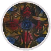 Collection Of Figurines Round Beach Towel