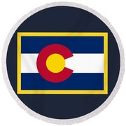 Colorado Flag Round Beach Towel