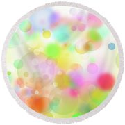Colorful Abstract 3 Round Beach Towel