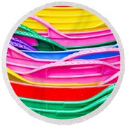 Colorful Plastic Round Beach Towel