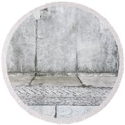 Concrete Background Round Beach Towel